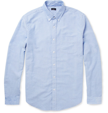 button-down oxford chambray