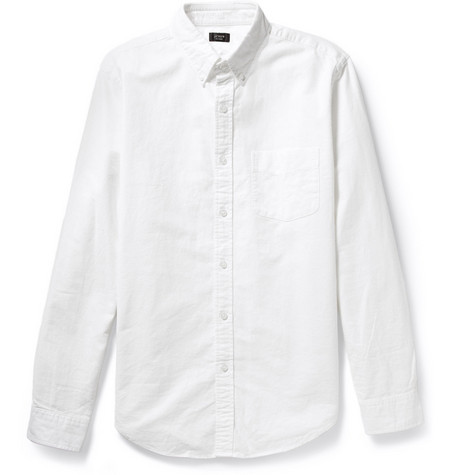 button-down oxford white