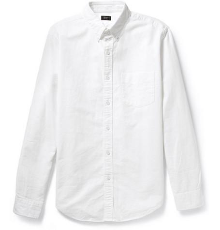 button-down oxford white